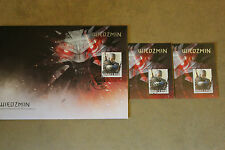 The Witcher 3: Wild Hunt - FULL SET FOR COLLECTORS !!!! 2 Stamps + Envelope RARE