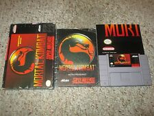 Mortal Kombat 1 (Super Nintendo Entertainment System SNES) Complete Poster FAIR