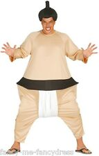 Mens Japanese Sumo Wrestler Sports Stag Do Fancy Dress Costume Outfit Size Large