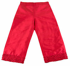 JACADI Girl's Relever Lacquered Red 3/4 Length Trouser Pant Age 10 Years NWT $86