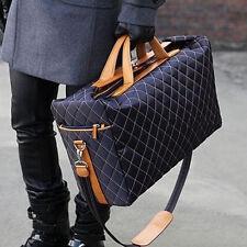 Men Vintage Quilted travel Messenger Shoulder crossbody sport school big Bag