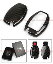 QUALITY LUXURY CARBON FIBER KEY CASE COVER FOR MERCEDES-BENZ KEYLESS SMART FOB