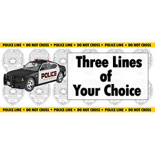 Police Force, Policeman Officer Party Supplies PERSONALIZED POLICE CAR BANNER