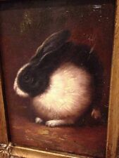 Country French Framed Oil Painting -Rabbit