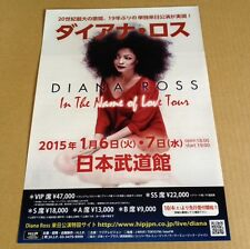 2015 Diana Ross JAPAN concert tour flyer / mini poster / photo the supremes