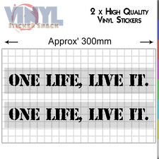 One Life Live It Stickers 2x Vinyl Car Decals 4x4 Off Road Land Rover Discovery