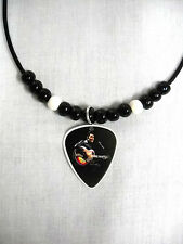 68 SPECIAL COLOR ELVIS PRESLEY IN LEATHERS PHOTO GUITAR PICK PENDANT NECKLACE