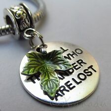 Lord Of The Ring Not All Those Who Wander Are Lost Charm For Large Hole Bracelet