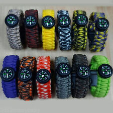 Outdoor Sports Paracord Survival Bracelet Rope Compass Starter Emergency Tools