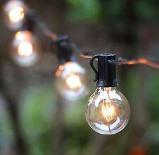 UK EU Vintage Garden Light G40 String 25 Clear Blobe Bulbs Wedding Party Decor
