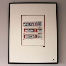 Martin Allen Can Art - Budweiser Film Cell in Large Alluminium Frame