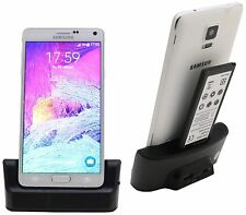 Samsung Galaxy Note 4 n910f DOCK DOCKING STATION SUPPORTO DI RICARICA BLACK + cavo dati