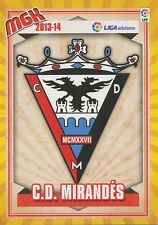 N°429 ESCUDO BADGE ECUSSON SCUDETTO # CD.MIRANDES CARD PANINI MGK LIGA 2014