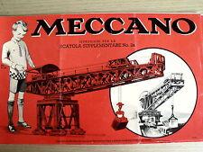 Istruzioni per la scatola MECCANO anni 50 Scatola Suppleme n°2A - ITA - [TR.28]