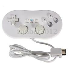 Wired Classic Pro Controller Video Game for Nintendo Wii White Mini Game Remote