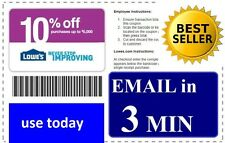 LATEST (X2)  LOWES 10% PRINTABLE-COUPONS In Store & ONLINE  **FAST - 10/15/2016