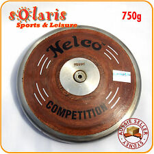 750g NELCO Wood Discus for School Athletics Track & Field Throw Equipment