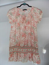 Dorothy Perkins Chiffon Style Elasticated Tie Neck Floral Summer Top Size 12