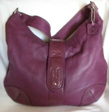 OSGOODE MARLEY Purple Leather Shoulder Bag Purse-VERY NICE