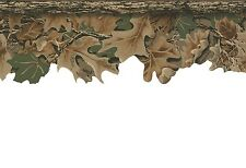Camouflage Leaves Laser Cut Hunt Lodge Camo Wallpaper Border WD4130B