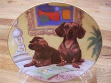 Danbury Mint DACHSHUND Dachsund ART CRITICS Doxie Limited Ed Dog Plate