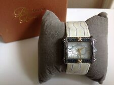 Barbara Bixby Stainless & 18K East West Leather Multi-Gemstone Watch in WHITE