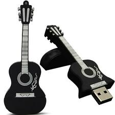 16GB Guitar USB 2.0 Metal Flash Memory Stick Storage Thumb U Disk Black HOT