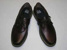 $89.99 New in Box   Jos A Bank brown leather Angler boat shoe  size  10.5 M