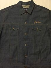 Phat Farm Men's Blue Denim Jean Jacket - Size 3XL