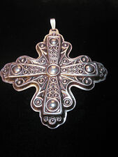 REED & BARTON STERLING SILVER CHRISTMAS CROSS 1972 COLLECTABLE HOLIDAY ORNAMENT