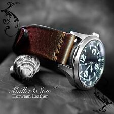 Müller&Son Genuine Horween Leather Brown 22 mm Watch Strap Custom Made in USA