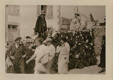 PHOTO ANCIENNE - VINTAGE SNAPSHOT - CARANTEC FÊTE FLEURS DÉFILÉ FOLKLORE 1936  6