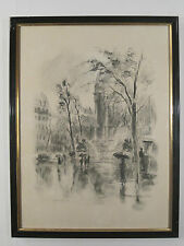 Planche Encre Chine Reproduction BERTHOLD MAHN PARIS GARE SAINT LAZARE 1933