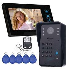 "7"" LCD Touch Key Video Door Bell Phone Audio Intercom Camera Home Entry System"
