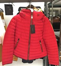 ZARA Red Anorak Quilted Parka Jacket Coat Size Extra Large XL