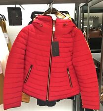 ZARA Red Anorak Quilted Parka Puffer Jacket Coat Large L