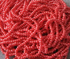 11/0 HANK CANDY APPLE RED LUSTER CZECH GLASS SEED BEADS