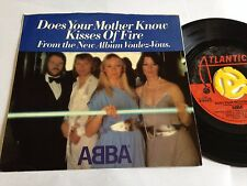 "Abba - Does your Mother Know / Kisses of Fire 1979 Release 7"" Vinyl"