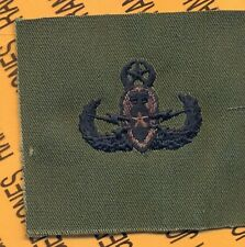 US Army Master EOD Explosive Ordnance Disposal OD Green Black badge cloth patch