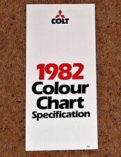 1982 (Mitsubishi) COLT COLOUR CHART - Sapporo, Galant, Lancer Turbo, Hatch, L300