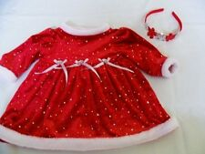 Mint Baby Girls Youngland Christmas Santa Party Dress 6/9 mo + Sequined Hairband