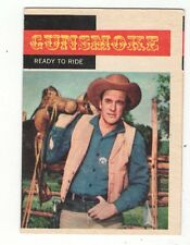 1958 TOPPS TV WESTERNS CARD #7  GUNSMOKE,  MATT, READY TO RIDE