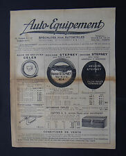 Catalogue publicité AUTO-EQUIPEMENT CELER STEPNEY cric gonfleur lanterne phare