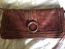 Ladies tan Nine West bag, with stud detailing, excellent condtion