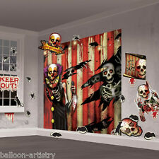 Halloween Mega CREEPY CARNIVAL Party Scene Setter Wall Decorating Kit