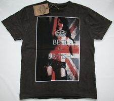 AMPLIFIED SEXY HOT BEST UK GIRL Union Jack Pin Up Rock Star Vintage T-Shirt g.L