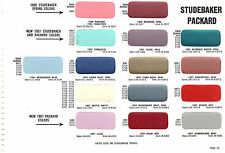 1956 1957 STUDEBAKER PRESIDENT CHAMPION PACKARD PAINT CHIPS 57SHERWIN WILLIAMS 3