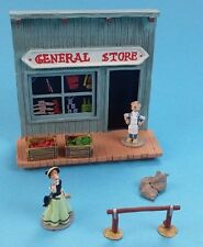 Mini figurine  ville Lucky Luke en plomb plastoy collection