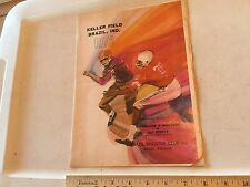 1972 Indiana High School Football Program BRAZIL vs LINTON