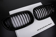 GLOSS BLACK KIDNEY GRILLS FOR BMW E46 3 SERIES 2 DOOR 03-06 COUPE CONVERTIBLE